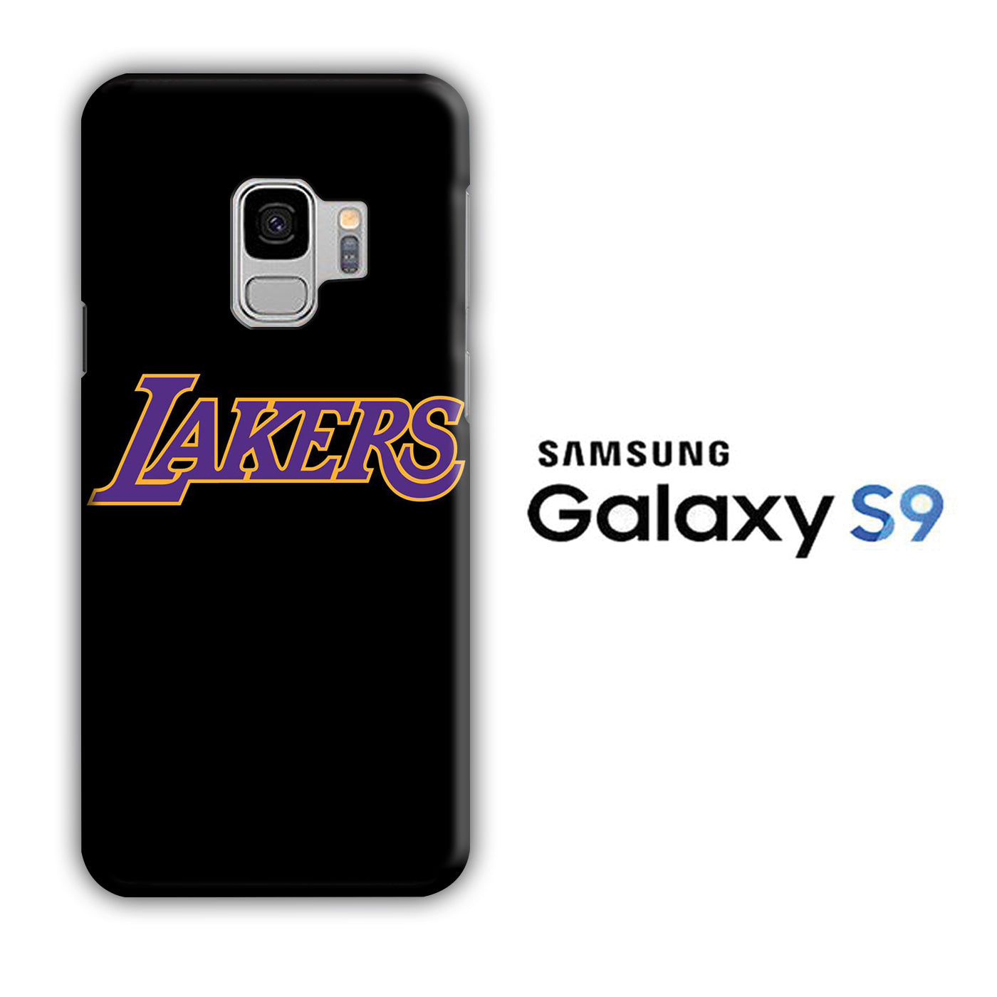 NBA Lakers Black Simple Samsung Galaxy S9 3D Case