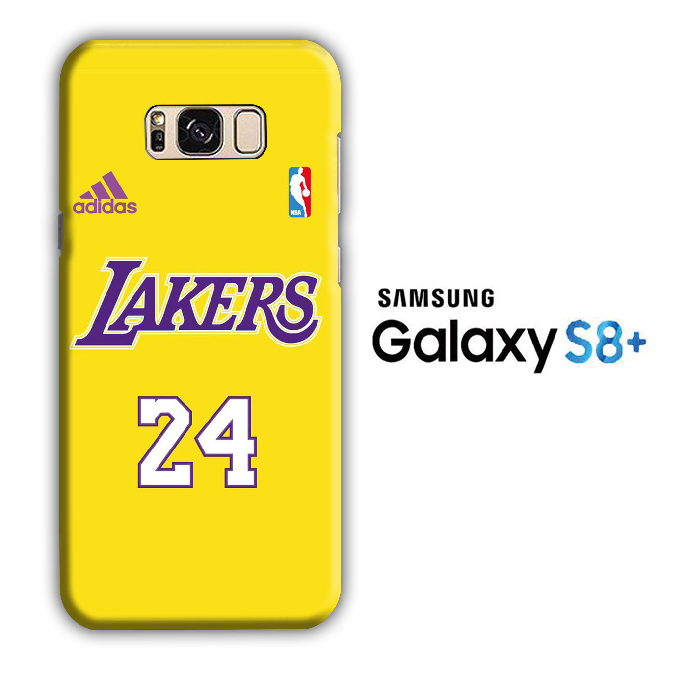 NBA Lakers Jersey 24 Samsung Galaxy S8 Plus 3D Case