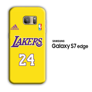 NBA Lakers Jersey 24 Samsung Galaxy S7 Edge 3D Case