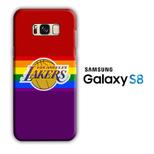 NBA Lakers Rainbow Samsung Galaxy S8 3D Case