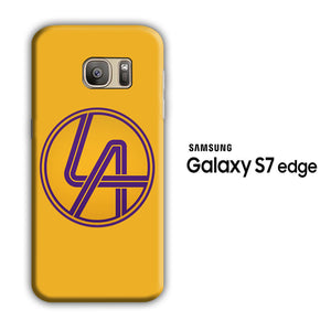 NBA Lakers Simple Yellow Samsung Galaxy S7 Edge 3D Case