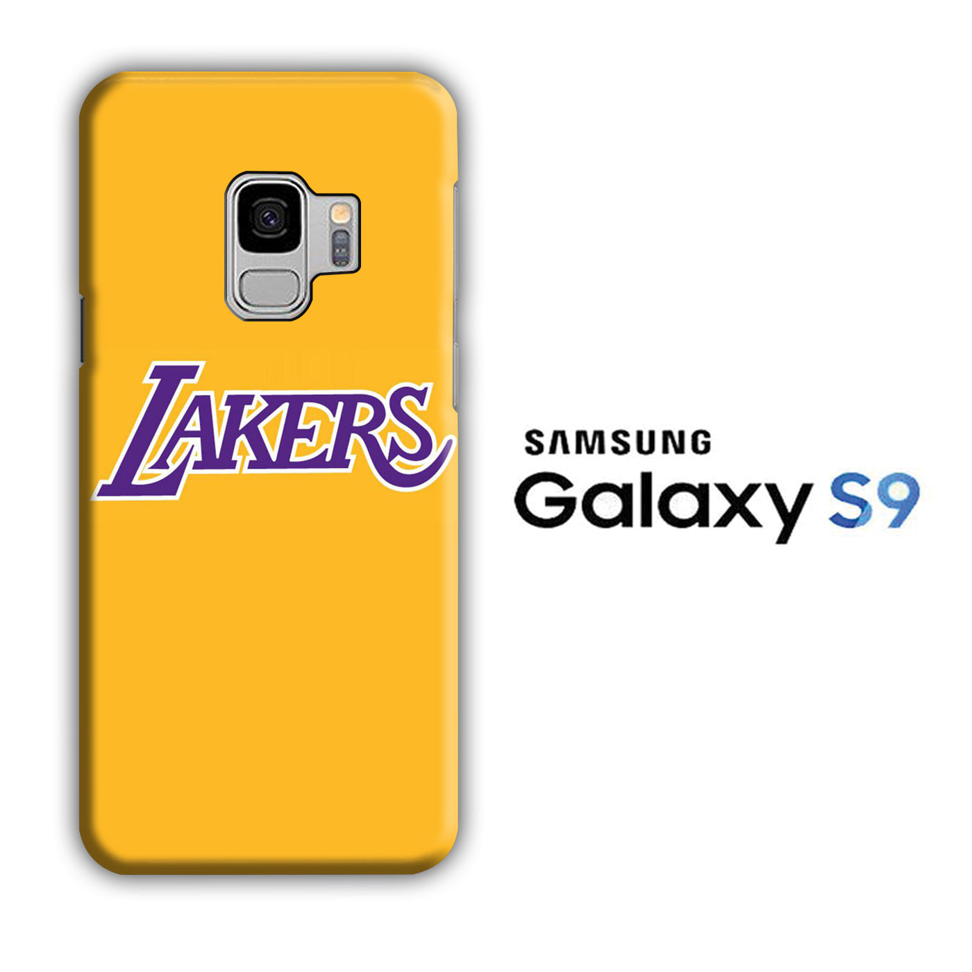 NBA Lakers Yellow Simple Samsung Galaxy S9 3D Case