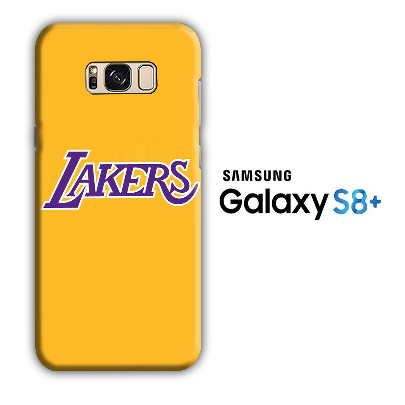NBA Lakers Yellow Simple Samsung Galaxy S8 Plus 3D Case
