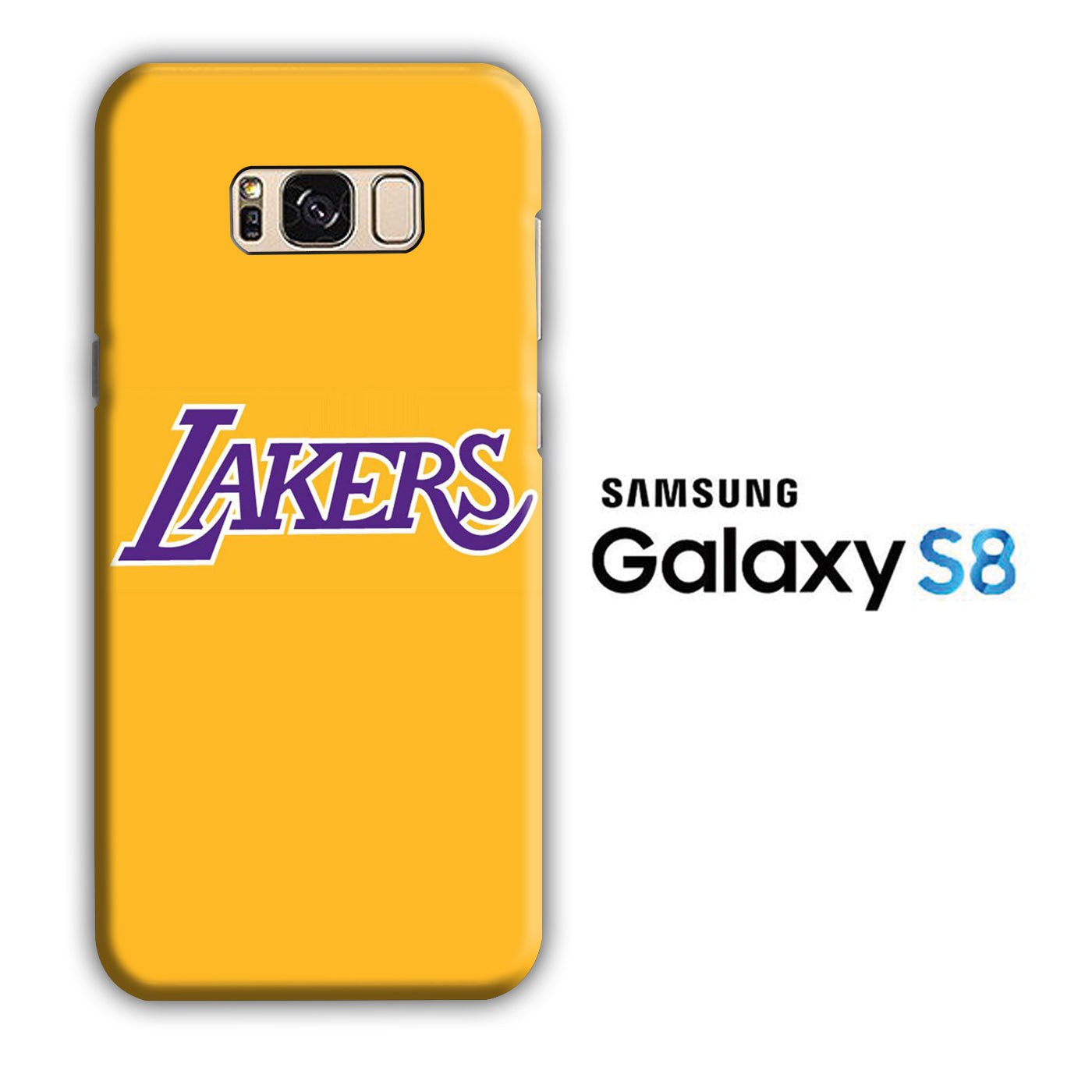 NBA Lakers Yellow Simple Samsung Galaxy S8 3D Case