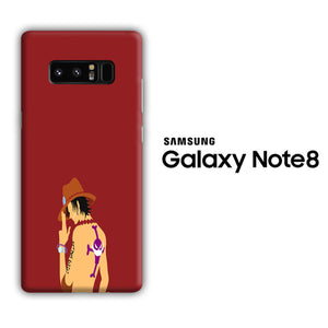 One Piece Ace Maroon Samsung Galaxy Note 8 3D Case