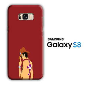 One Piece Ace Maroon Samsung Galaxy S8 3D Case