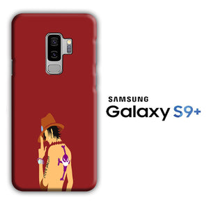 One Piece Ace Maroon Samsung Galaxy S9 Plus 3D Case