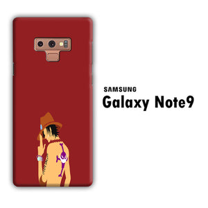 One Piece Ace Maroon Samsung Galaxy Note 9 3D Case