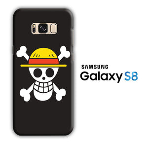 One Piece Black Logo Samsung Galaxy S8 3D Case