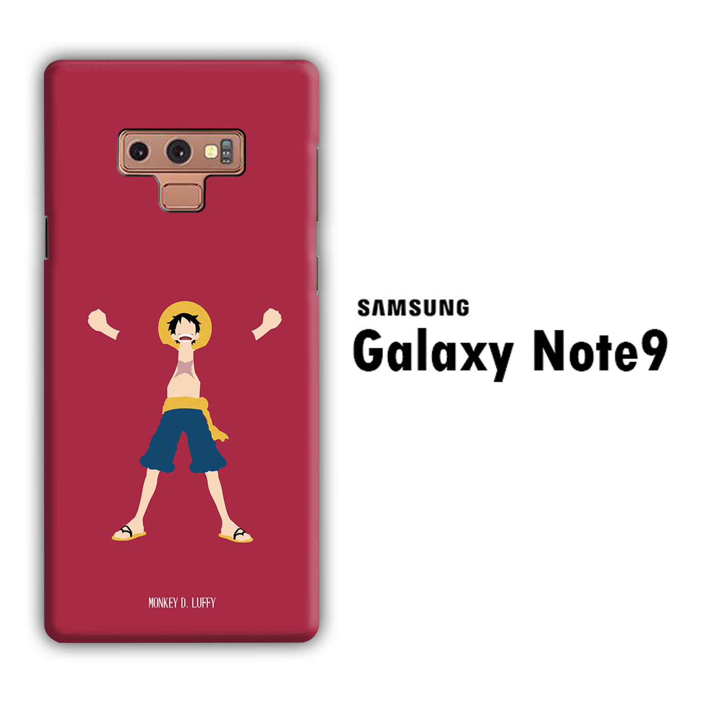 One Piece Luffy Maroon 003 Samsung Galaxy Note 9 3D Case