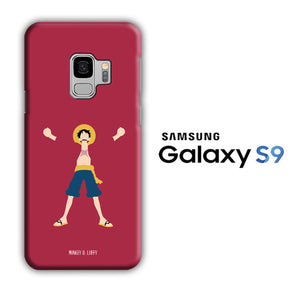 One Piece Luffy Maroon 003 Samsung Galaxy S9 3D Case