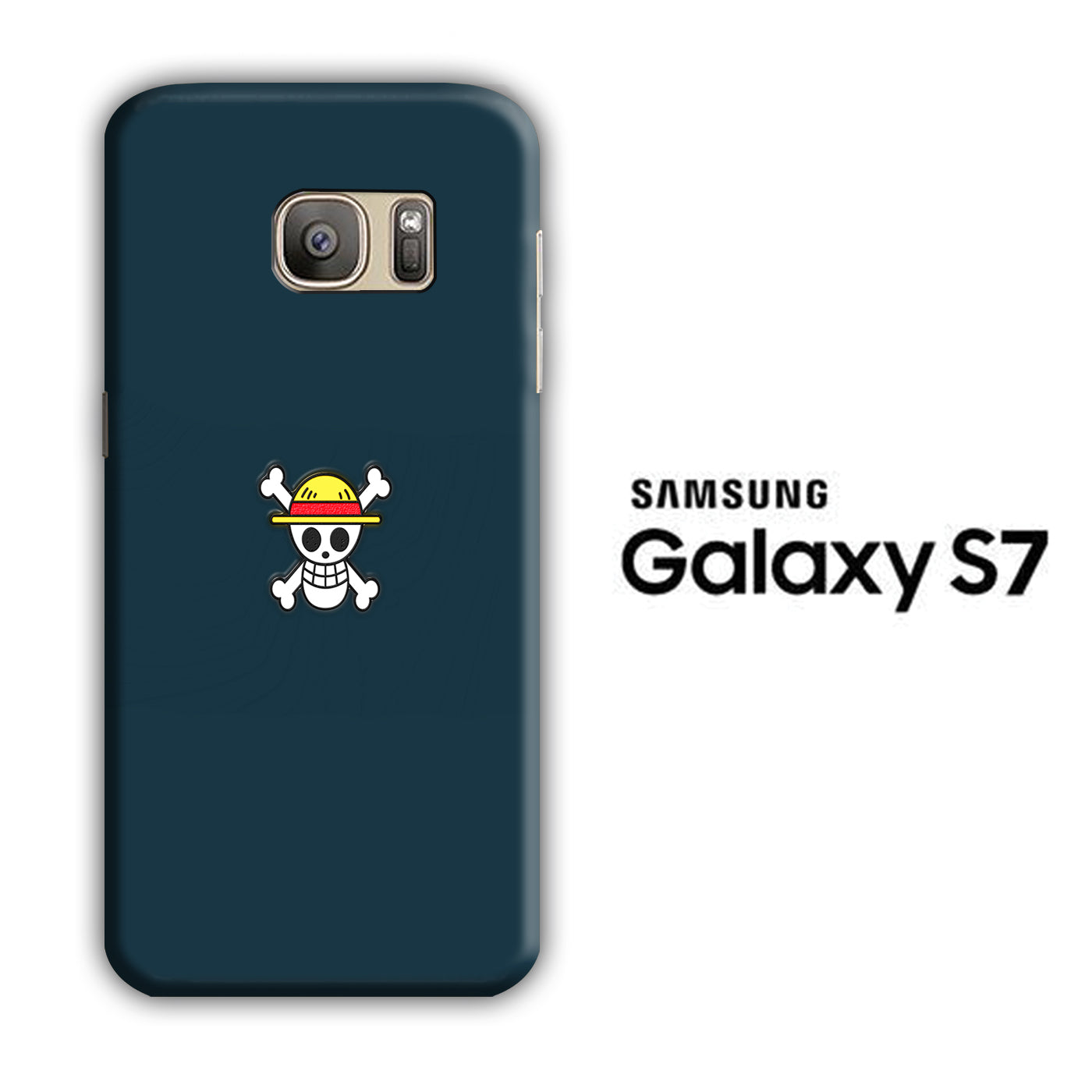 One Piece Navy Logo Samsung Galaxy S7 3D Case