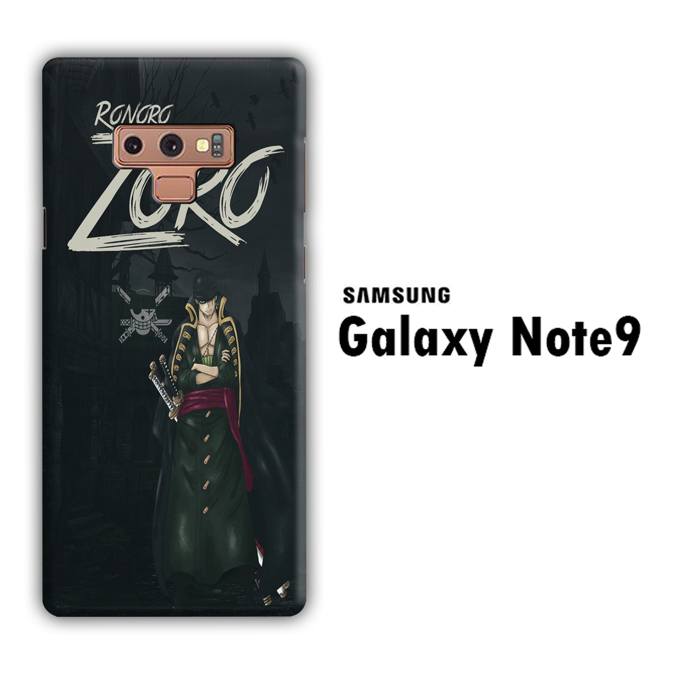 One Piece Zoro Black Samsung Galaxy Note 9 3D Case