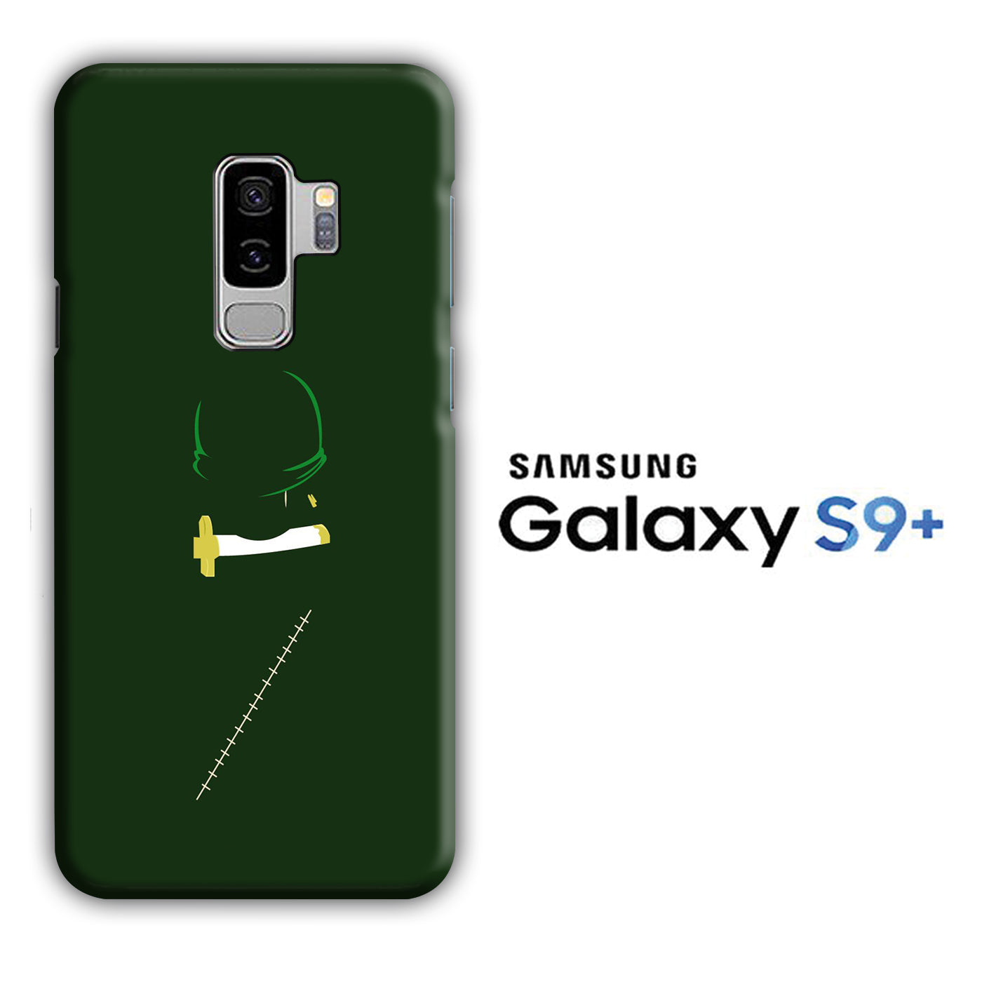One Piece Zoro Dark Green Samsung Galaxy S9 Plus 3D Case
