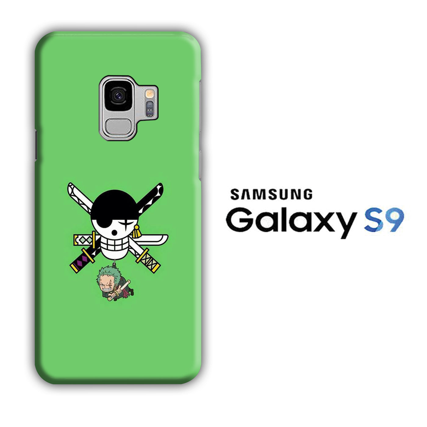 One Piece Zoro Green Samsung Galaxy S9 3D Case