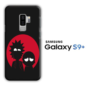 Rick and Morty Black Red Samsung Galaxy S9 Plus 3D Case