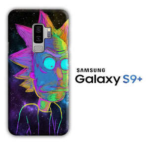Rick and Morty Chalk Rainbow Samsung Galaxy S9 Plus 3D Case