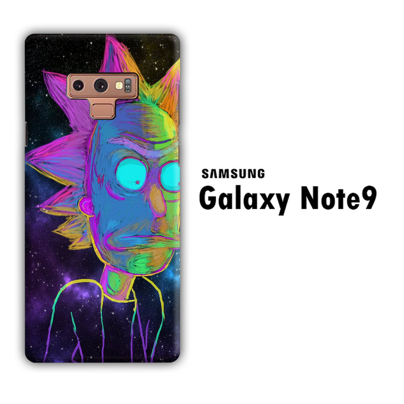 Rick and Morty Chalk Rainbow Samsung Galaxy Note 9 3D Case