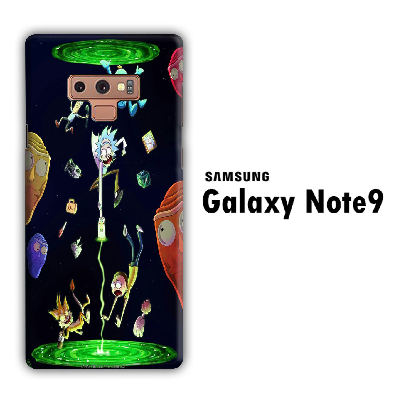 Rick and Morty Fly Samsung Galaxy Note 9 3D Case