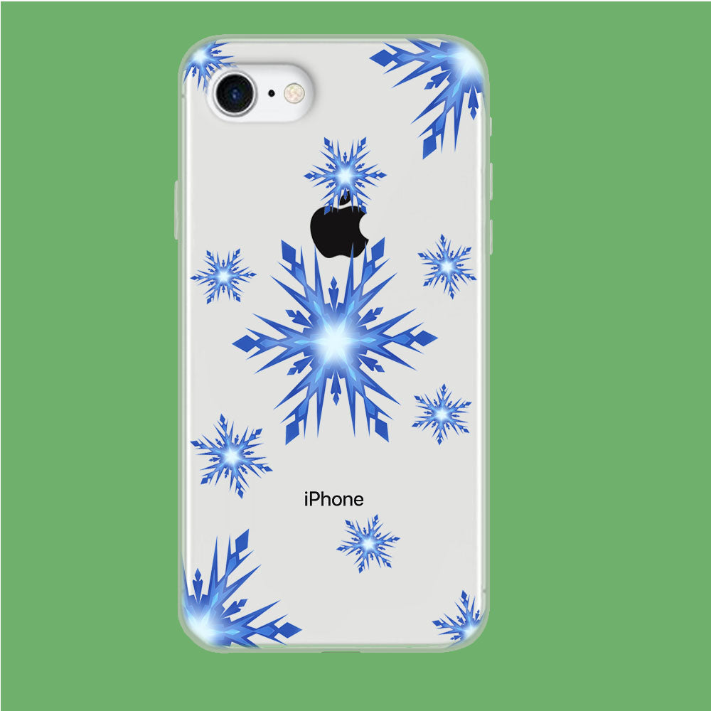 Snowflake Blue Ocean iPhone 8 Clear Case