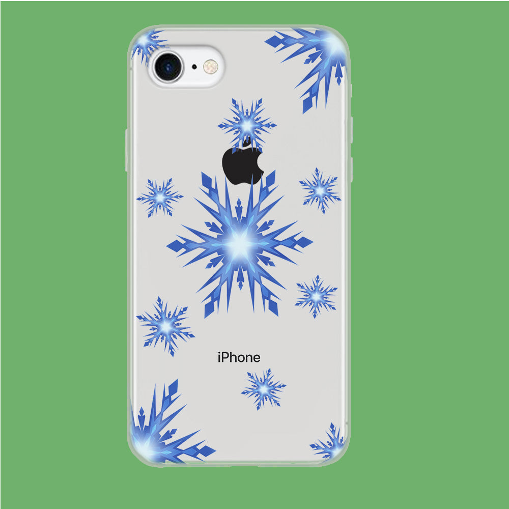 Snowflake Blue Ocean iPhone 7 Clear Case