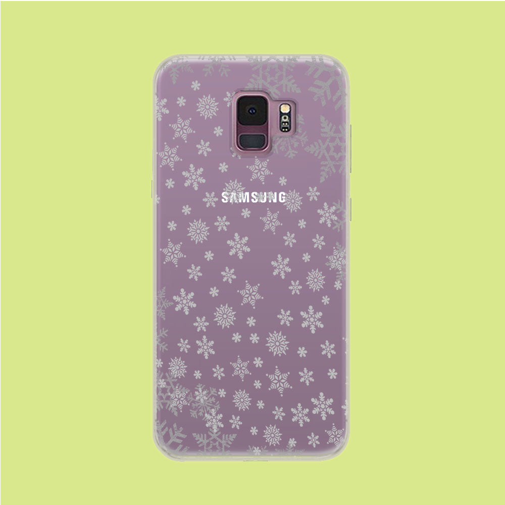 Snowflake Grey Wallpaper Samsung Galaxy S9 Clear Case