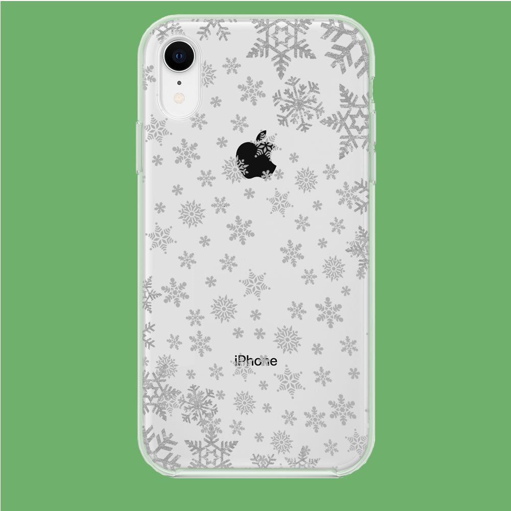 Snowflake Grey Wallpaper iPhone XR Clear Case