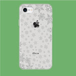 Snowflake Grey Wallpaper iPhone 7 Clear Case