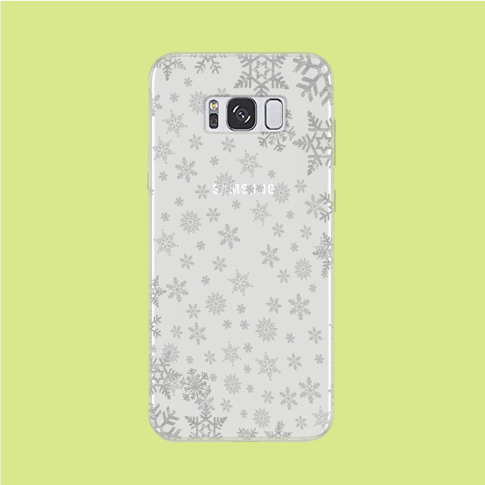 Snowflake Grey Wallpaper Samsung Galaxy S8 Clear Case