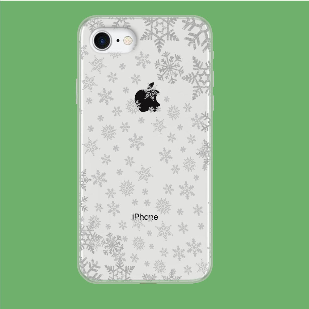 Snowflake Grey Wallpaper iPhone 8 Clear Case