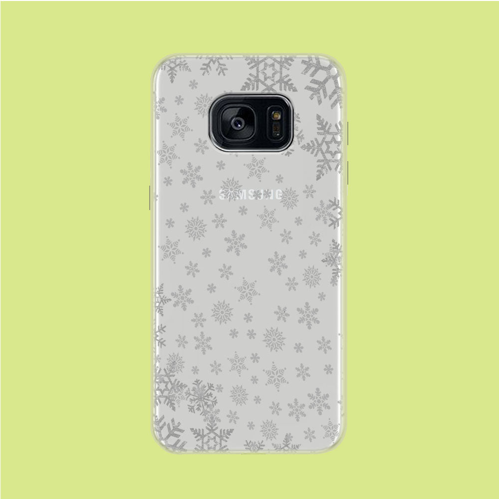 Snowflake Grey Wallpaper Samsung Galaxy S7 Clear Case