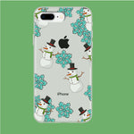 Snowflake x Snowman iPhone 8 Plus Clear Case