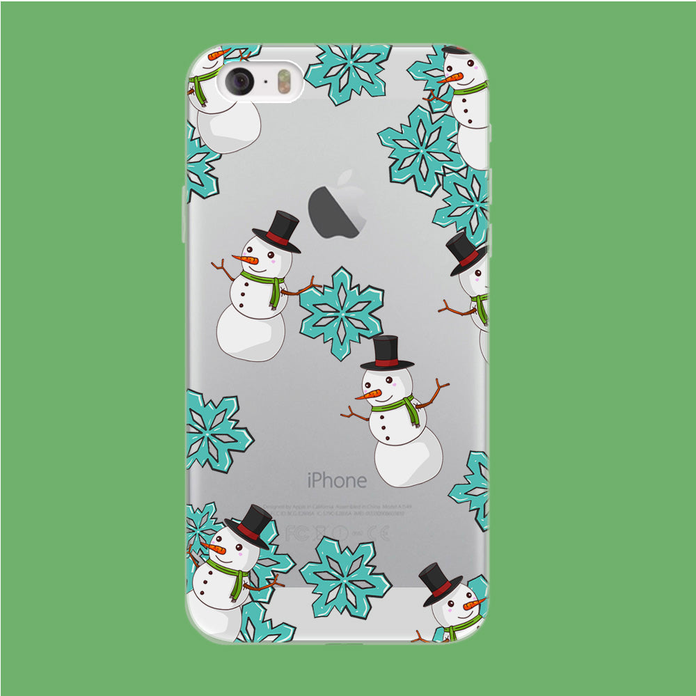 Snowflake x Snowman iPhone 5 | 5s Clear Case