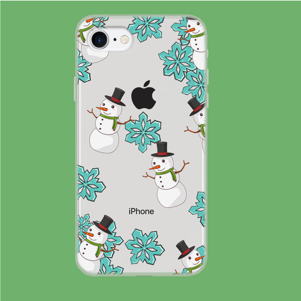 Snowflake x Snowman iPhone 7 Clear Case