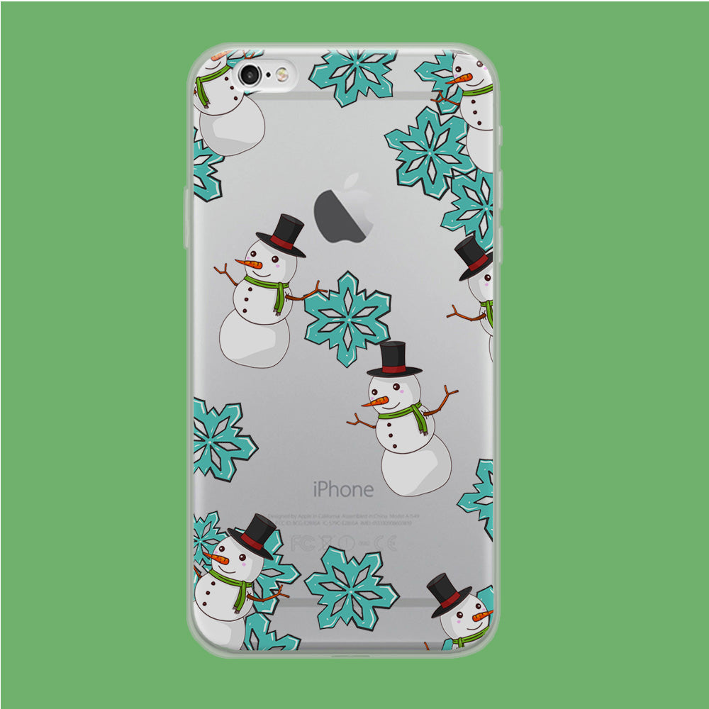 Snowflake x Snowman iPhone 6 Plus | 6s Plus Clear Case