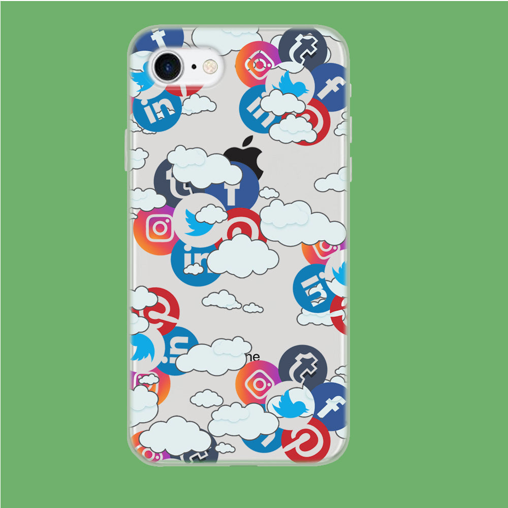 Social Media Cloud iPhone 7 Clear Case