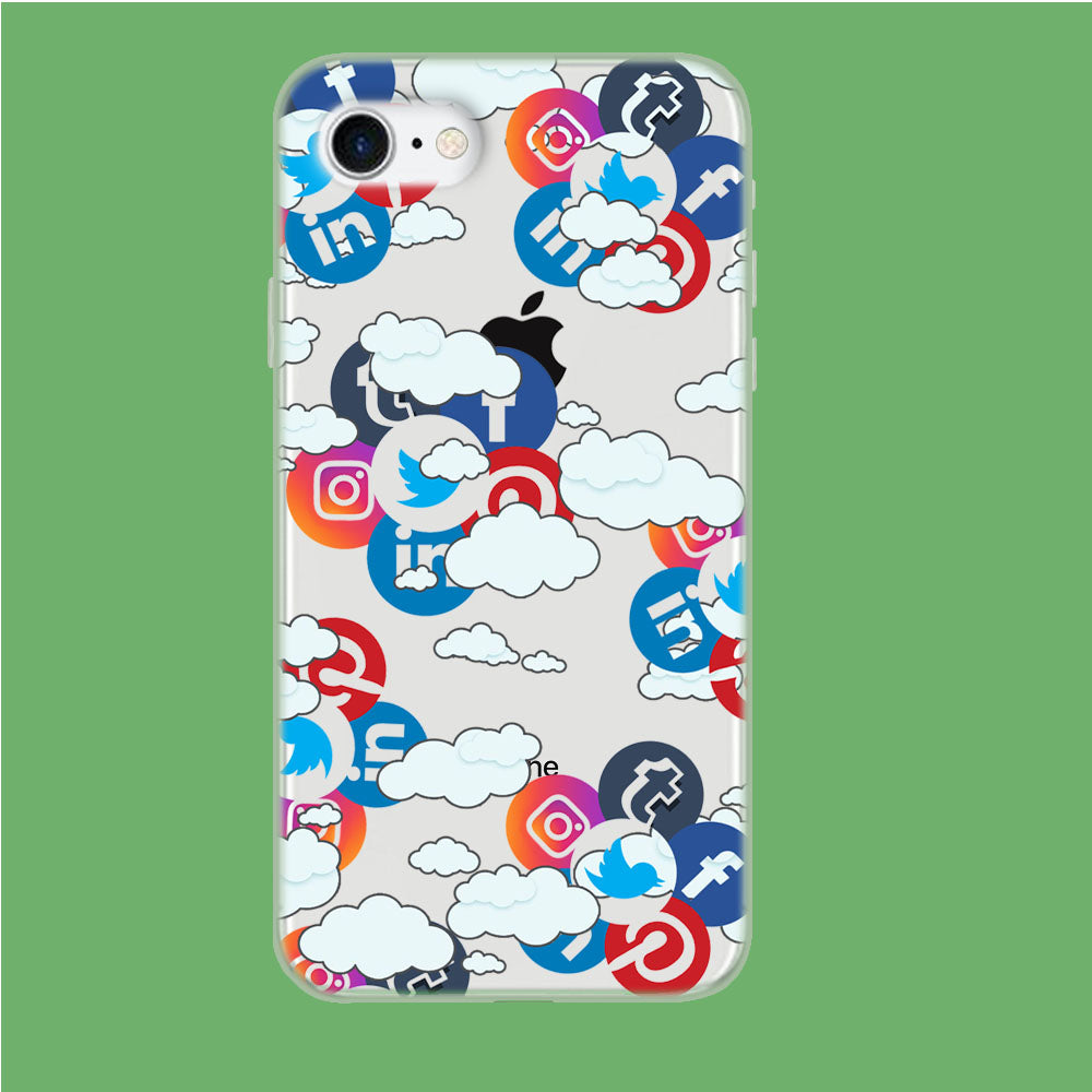 Social Media Cloud iPhone 8 Clear Case
