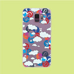 Social Media Cloud Samsung Galaxy S9 Clear Case