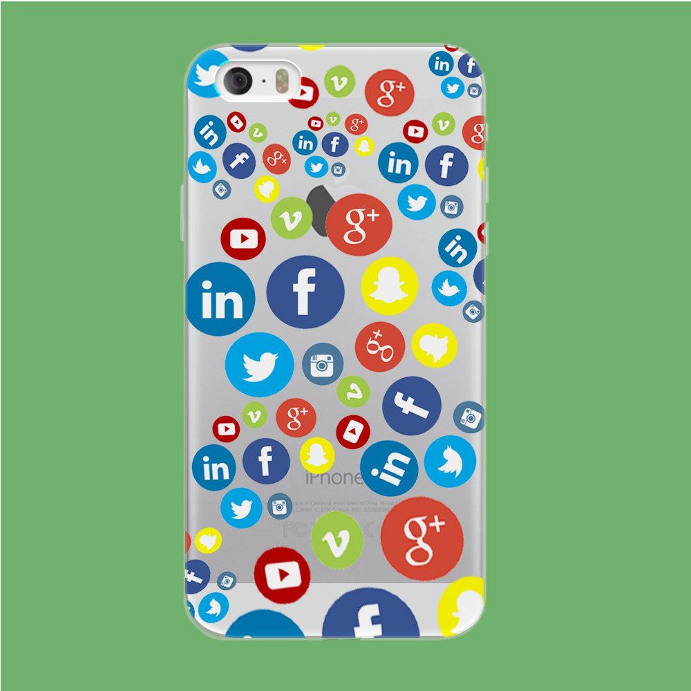 Social Media Doodle iPhone 5 | 5s Clear Case