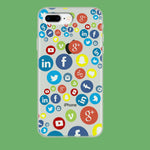 Social Media Doodle iPhone 8 Plus Clear Case