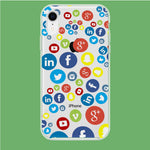 Social Media Doodle iPhone XR Clear Case