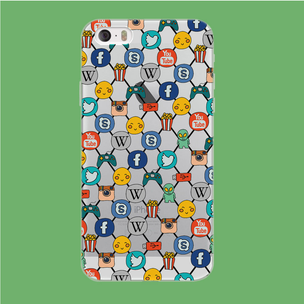 Social Media Net Wallpaper iPhone 5 | 5s Clear Case