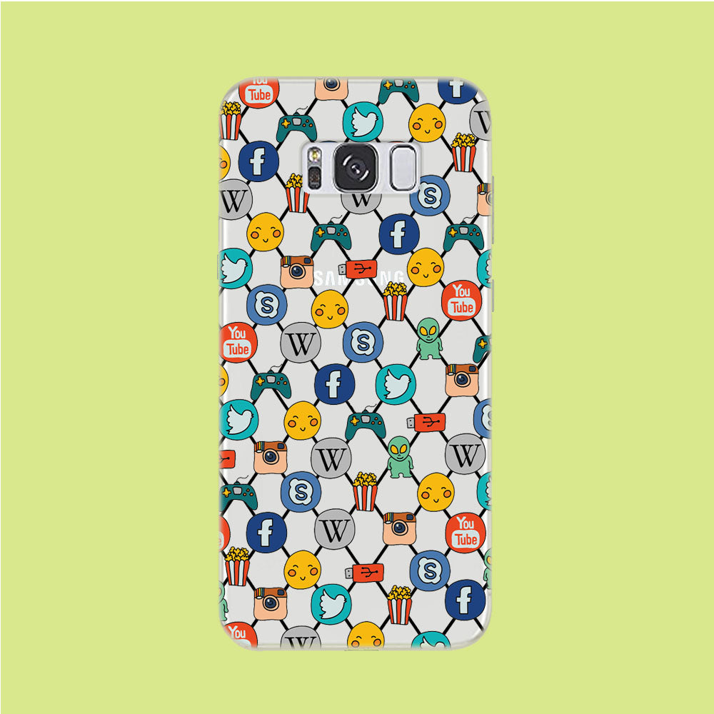Social Media Net Wallpaper Samsung Galaxy S8 Clear Case
