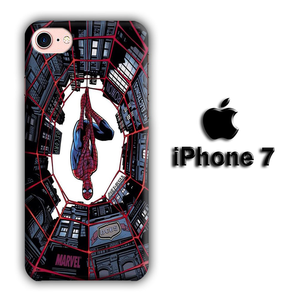 Spiderman Net Under Building iPhone 7 3D Case