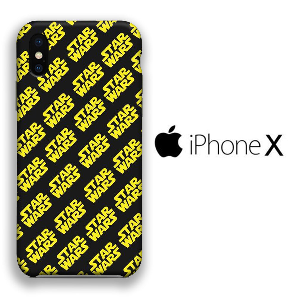 Star Wars Word 003 iPhone X 3D Case