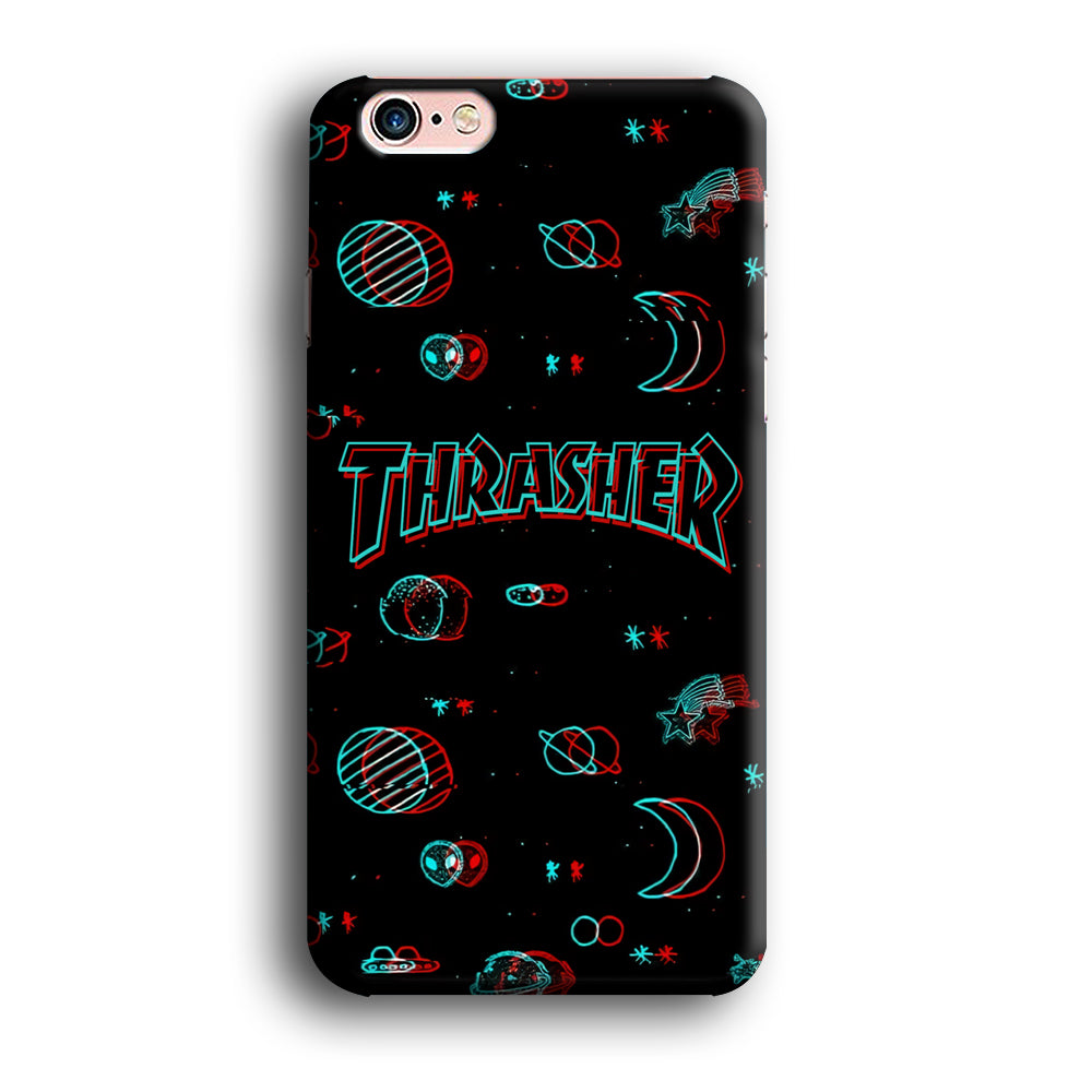 Thrasher Neon Space iPhone X 3D Case