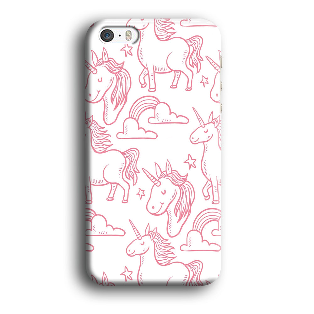 Unicorn White Pink iPhone 5 | 5s 3D Case