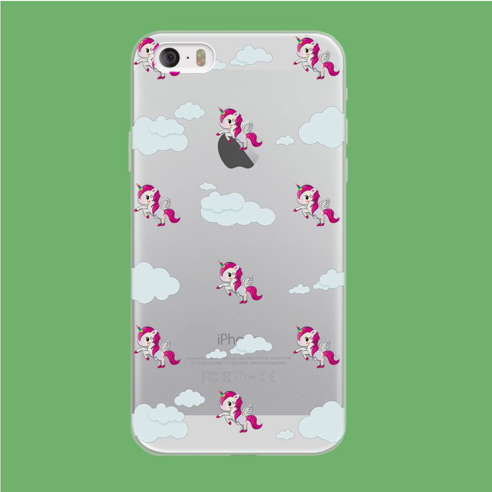Unicorn Cloud Doodle Cute iPhone 5 | 5s Clear Case