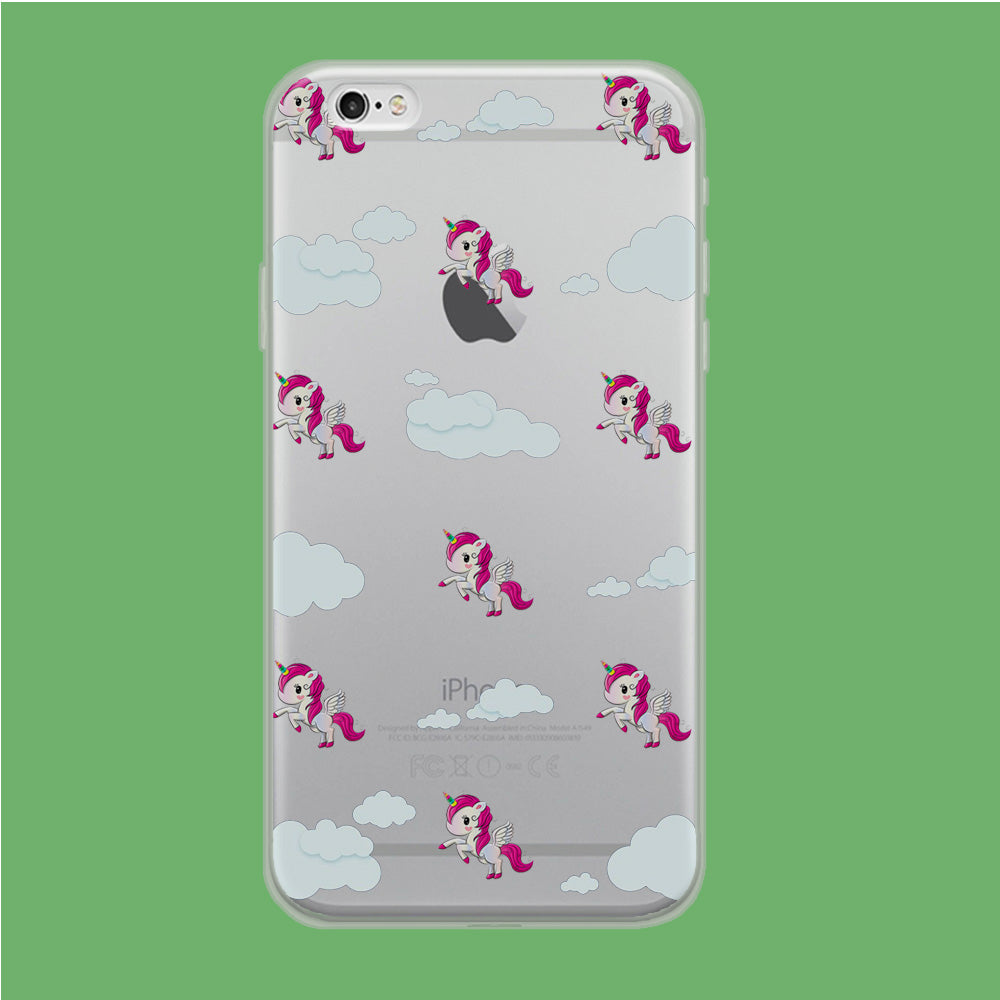 Unicorn Cloud Doodle Cute iPhone 6 Plus | 6s Plus Clear Case