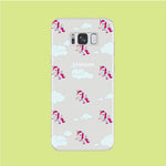 Unicorn Cloud Doodle Cute Samsung Galaxy S8 Clear Case